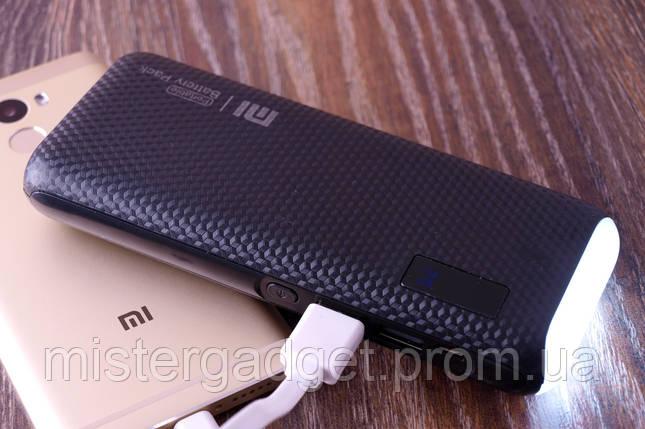 Внешний аккумулятор PowerBank Mi 20000mA копия Xiaomi Черный, фото 2