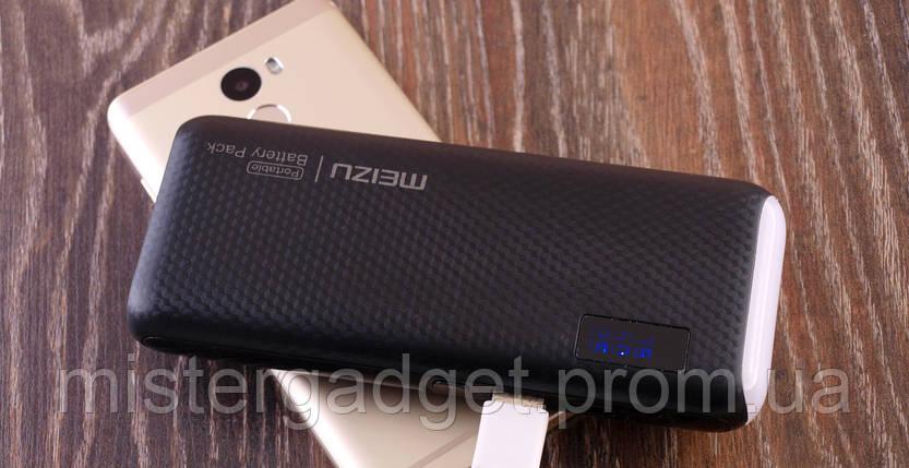 Внешний аккумулятор Meizu 20000mA копия Мейзу Черный, фото 2