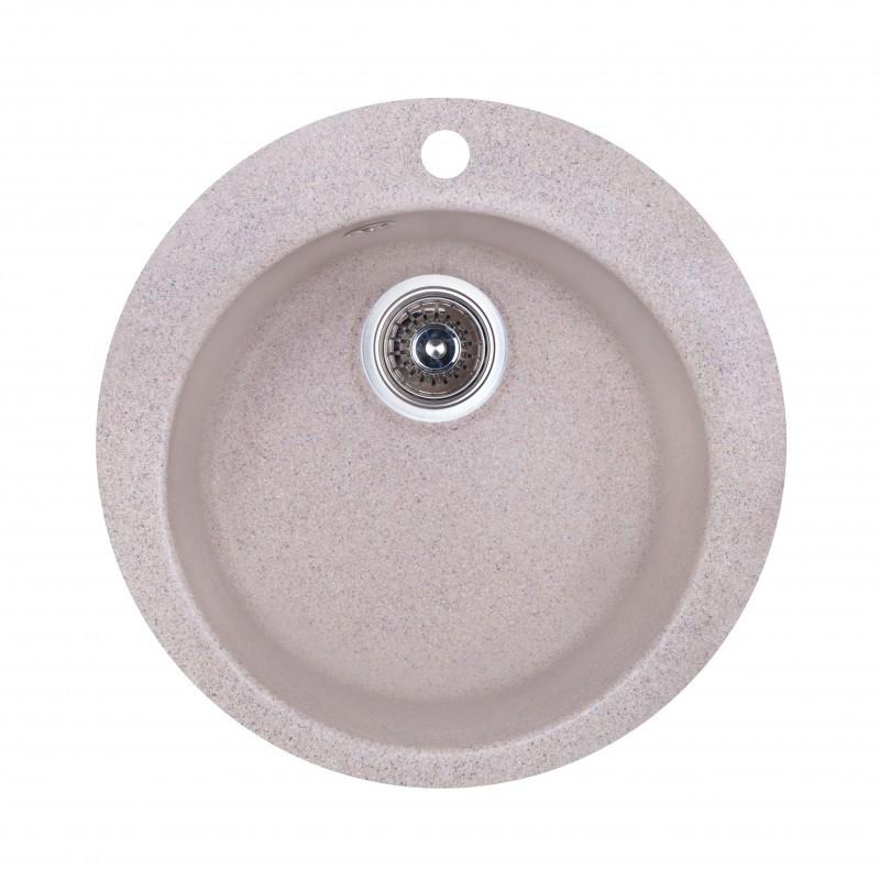 Кухонная мойка гранитная круглая Fosto D470 SGA-300 (песок)