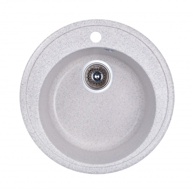 Кухонная мойка гранитная круглая Fosto D510 SGA-210 (олово)
