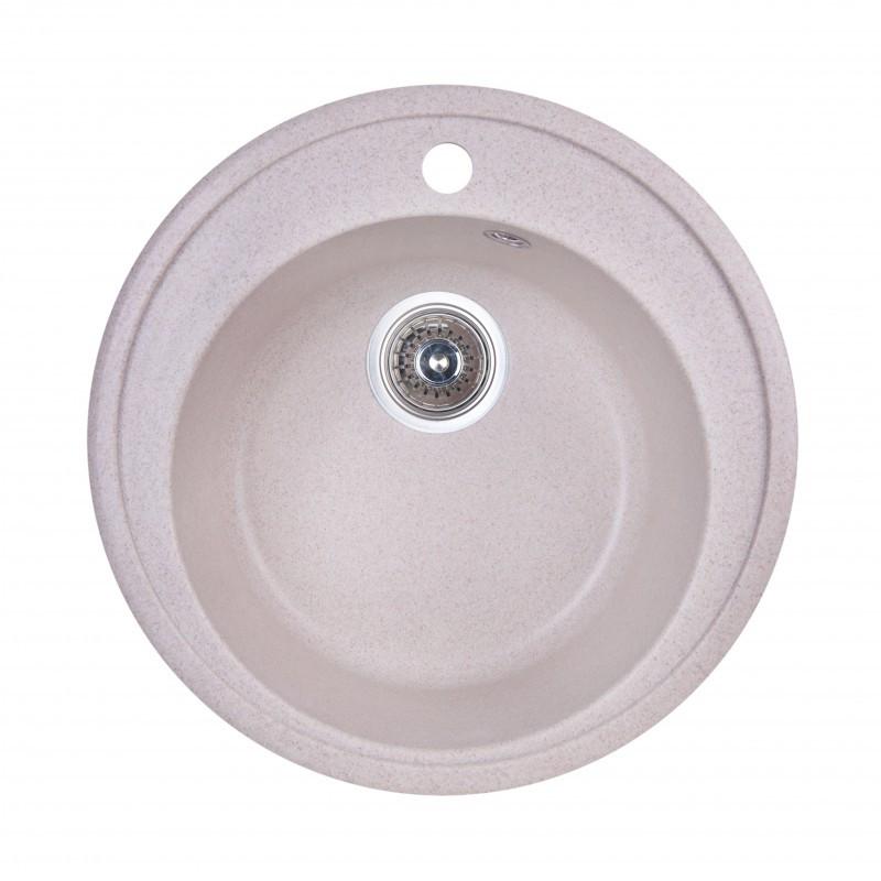 Кухонная мойка гранитная круглая Fosto D510 SGA-800 (персик)
