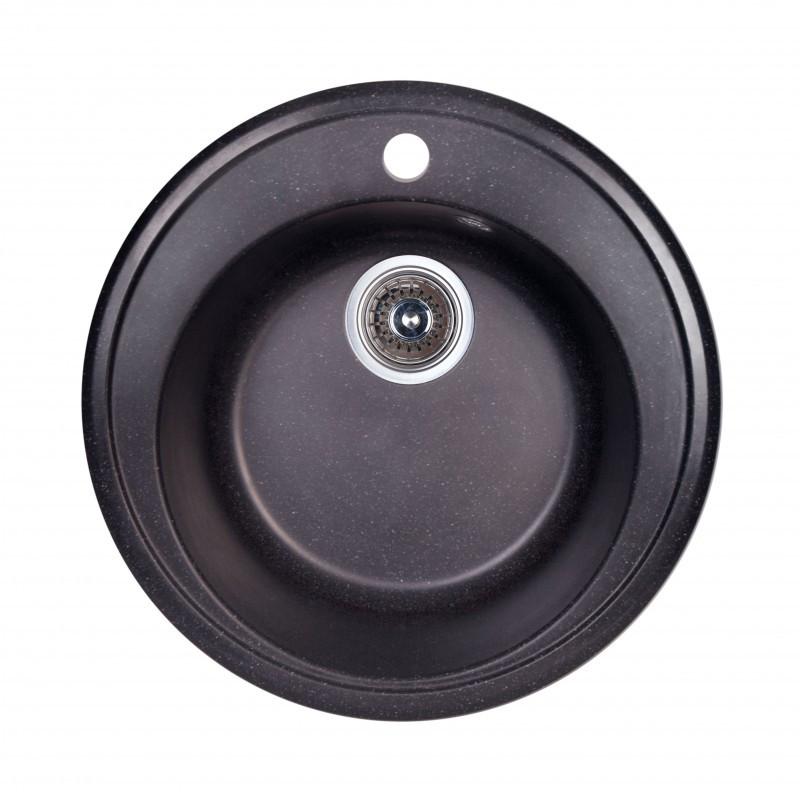 Кухонная мойка гранитная круглая Fosto D510 SGA-420 (черный)