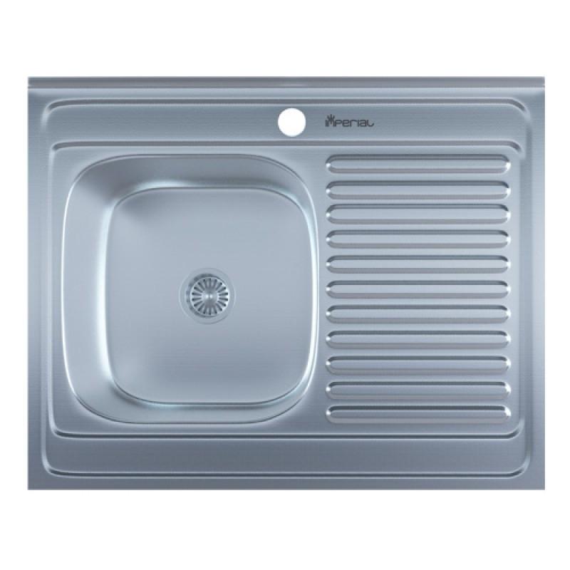 Кухонная мойка нержавейка Imperial 5080-L Decor