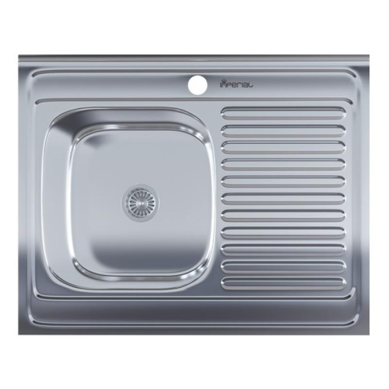 Кухонная мойка нержавейка Imperial 6080-L Polish