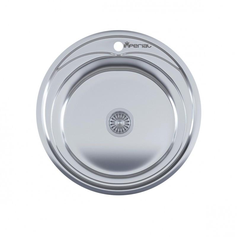 Кухонная мойка нержавейка Imperial 490-A  Satin