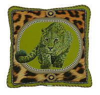 "Декоративная подушка ""Зелёный леопард"""