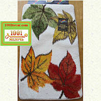 """Набор ковриков Banyolin """"Осень"""" в ванную и туалет, 100х60 см. и 50х60 см."""