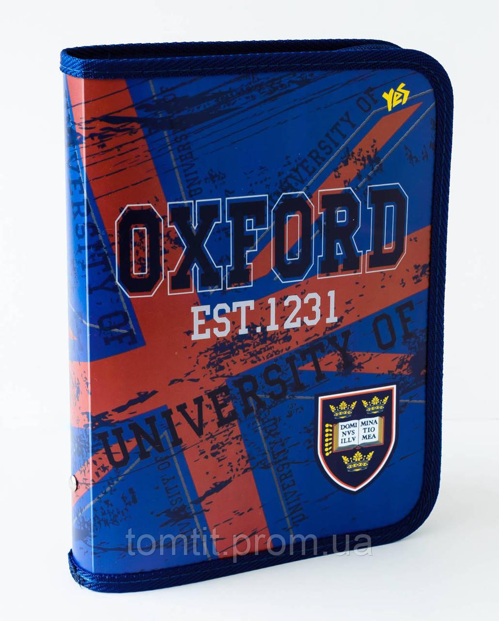 """Папка пластиковая для тетрадей  """"Oxford – Оксфорд"""" на молнии, ТМ """"YES"""""""