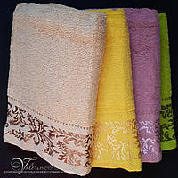 Однотонное банное полотенце 140х70. 100% хлопок