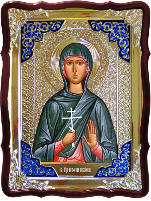 Икона в ризе - Святая мученица Антонина Никейская в православном магазине