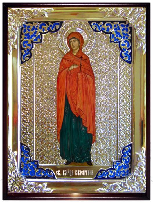 Икона в ризе - Святая мученица Валентина ростовая в магазине церковной утвари