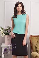 """Платье комбинированное юбка и блузка """"Vivien"""" - распродажа мята, 42-44"""