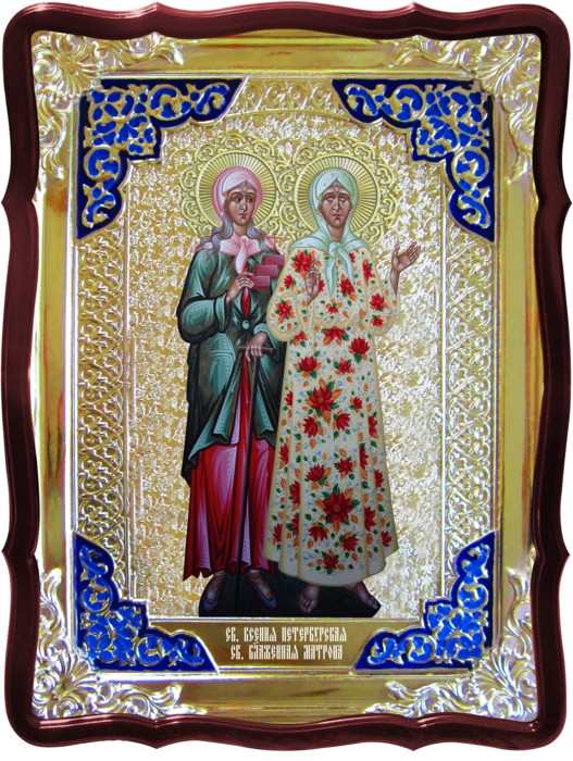 Икона в ризе - Святая мученица Ксения Матрона в магазине церковной утвари