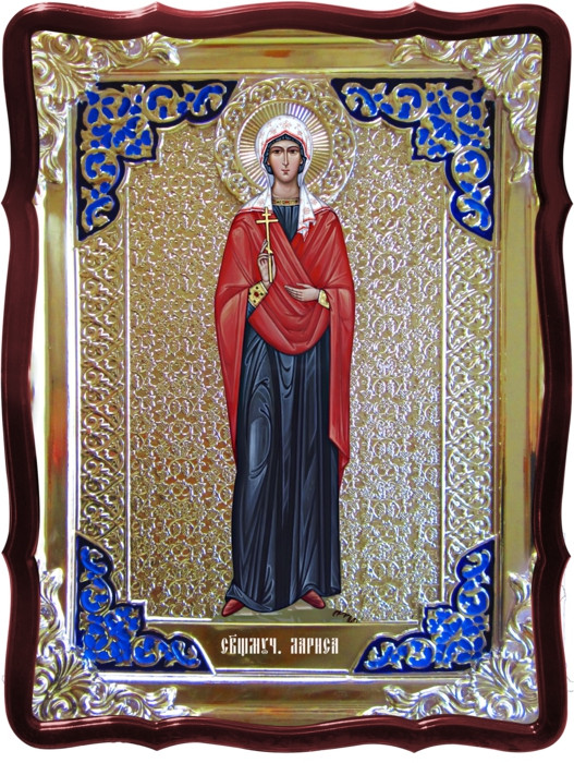 Икона в ризе - Святая мученица Лариса 80х60см в православном интернет магазине