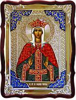 Икона в ризе - Святая мученица Людмила Чешская в православном магазине
