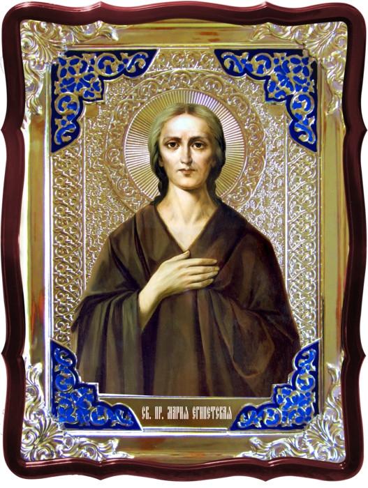 Икона в ризе - Святая мученица Мария Египетская в православном магазине
