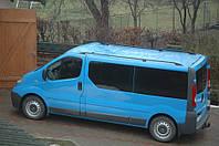 Рейлинги Renault Trafic, Opel Vivaro, Nissan Primastar 2001- длинная база Черный ABS Premium