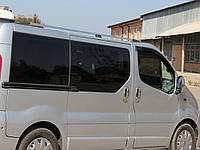 Рейлинги Renault Trafic, Opel Vivaro, Nissan Primastar 2001- короткая база Хром ABS Premium
