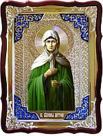 Икона в ризе - Святая мученица Матрона ростовая в магазине церковной утвари