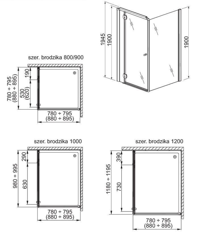 aquaform Неподвижная стенка Aquaform Sol De Luxe 90 см 103-06059