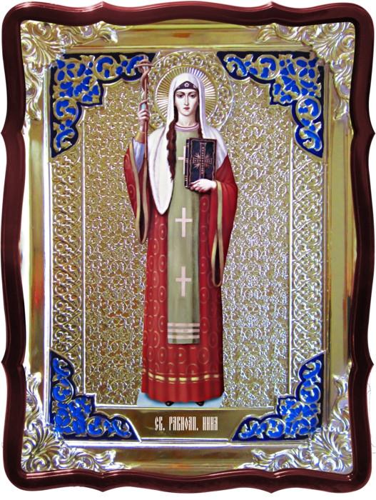 Икона в ризе - Святая мученица Нина в православном интернет магазине