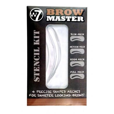 Трафареты для бровей W7 Brow Master Stencil Kit