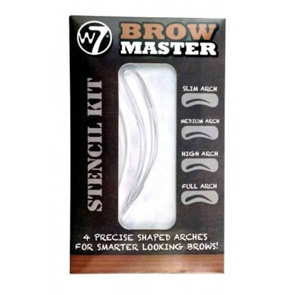 Трафареты для бровей W7 Brow Master Stencil Kit, фото 2