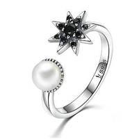 Кольцо из серебра с жемчужиной