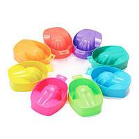 Ванночки для маникюра пластиковые, цвета в ассортименте