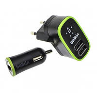 Комплект Belkin 3 в 1 (Зарядное устройство Micro USB, автоадаптер USB, Data кабель)