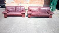 Шикарный комплект кожаной мягкой мебели 3 + 2