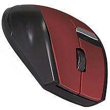 Мышь компьютерная беспроводная RAPOO 3200 красная usb мышка для ноутбука офиса игровая чувствительная, фото 3