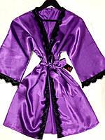 Женский очаровательный халат на запах для дома