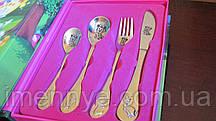 Подарочный детский набор столовых приборов для девочки