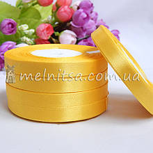 Атласная лента 1 см, №15 желтый, рулон 23 м