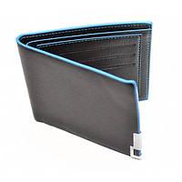 Мужской кошелек, черный с синим