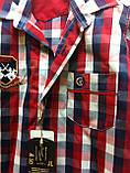 Сорочка червона клітка, короткий рукав, одяг для хлопчиків 6-11 років, фото 3
