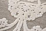 Килим з віскози в спальню, класичний білий килим, фото 2