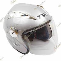 Мото шлем TVR Shredder, ¾, Котелок, Круизер, Чоппер, полулицевик серый, фото 1
