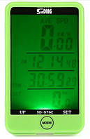 Беспроводной велокомпьютер  SunDing SD-576С (зеленый)