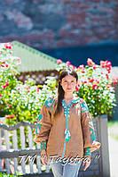 Блузка бохо вышитая, вышиванка лен, в этностиле