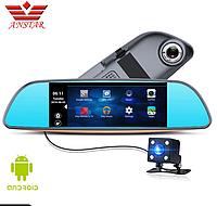 "Новинка! Зеркало регистратор 7"" сенсор+ 2 камеры + навигатор + Android+сим карты"