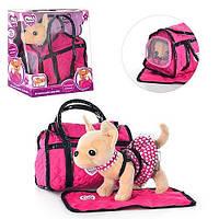 Гламурная собачка Кикки в сумочке с ковриком