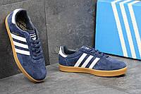 Кеды Adidas 350 синие замша Индонезия