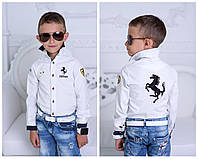 """Стильная рубашка """"Ferrari"""" на мальчика № 928 е.в"""