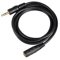 Аудио кабель, удлинитель, 3.5мм джек, мама - папа, 1.4м