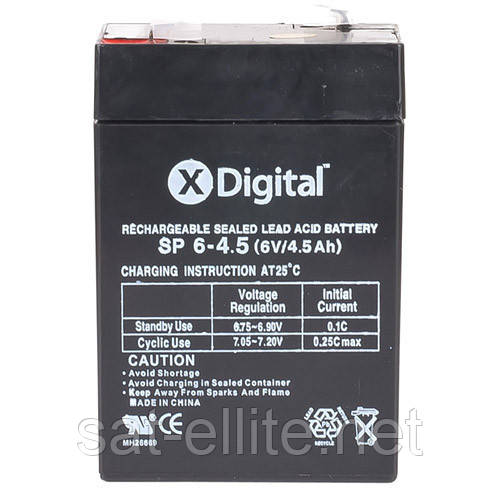 Свинцово-кислотный аккумулятор X-DIGITAL SP 6-4.5 SW645 6В 4500мАч - 1-й Интернет-Cупермаркет на Prom.ua в Киеве