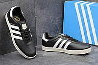 Кроссовки мужские Adidas 350 черные на белой подошве  Индонезия
