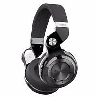 Беспроводные Bluetooth наушники гарнитура Bluedio T2+ MicroSD FM черные