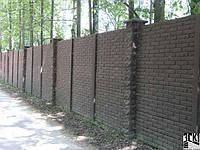 Секция бетонного забора(РАССРОЧКА НА 4 МЕСЯЦА) Киев-Одесса, кирпич VIP premium, фото 1